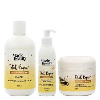 Kit Total Repair Magic Beauty - Shampoo + Condicionador + Leave-in Kit