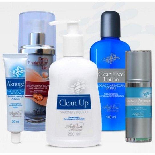 Kit Tratamento Acne Adélia Mendonça - 5 produtos - Incolor