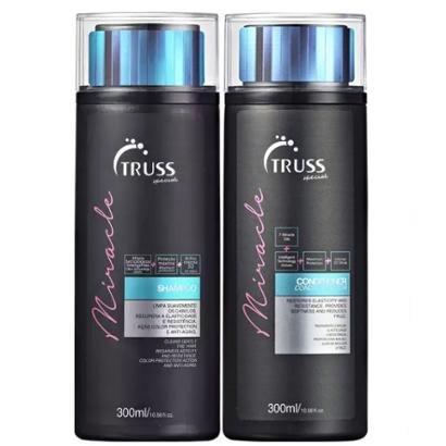 Kit Truss Miracle 1 Shampoo 300ml + 1 Condicionador 300ml Cabelos Danificados
