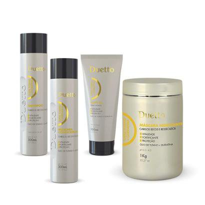 Kit Tutano Duetto 1 Shampoo 300Ml + 1 Cond 300Ml + 1 Máscara 1K + 1 Leave-In 200Ml-Feminino