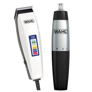 Kit Wahl Máquina de Corte Color Code 110V + Mini Aparador de Pelos Nasal Trimmer à Pilha