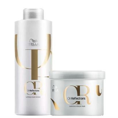 Kit Wella Professionals Oil Reflections Luminous 1 Shampoo 1000ml + 1 Máscara 500ml