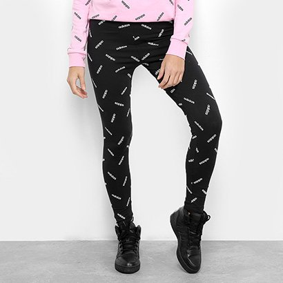 55f33325b Legging Adidas Estampa Logo AOP TGHT Feminina-Feminino