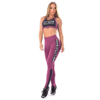 Legging Athletic Woman Púrpura Lets Gym - G