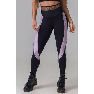 Legging Fight Fitness Estampado Lilás Hipkini - M
