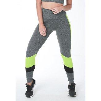 Legging Fitness Faixa Textura Feminina