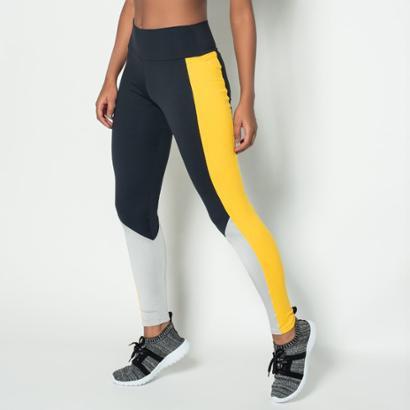 Legging Fitness Poliamida Style Lg897 Feminina-Feminino