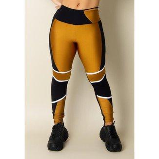 Legging Fitness Supreme Gold Feminina