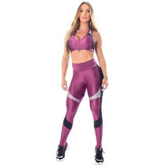 Legging Glowing Secret Púrpura Lets Gym - P