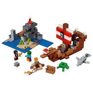 Lego Minecraft A Aventura do Barco Pirata 21152 - 386pcs