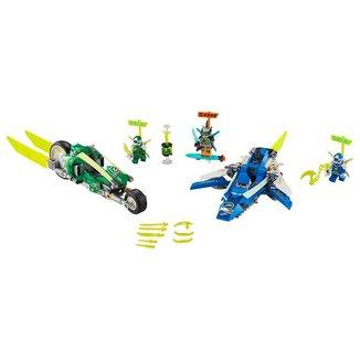 Lego Ninjago Os Veículos de Corrida do Jay e do Lloyd 71709