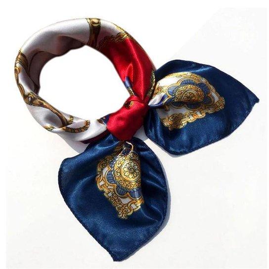 Lenço Artestore de Seda Luxo Tons - Azul