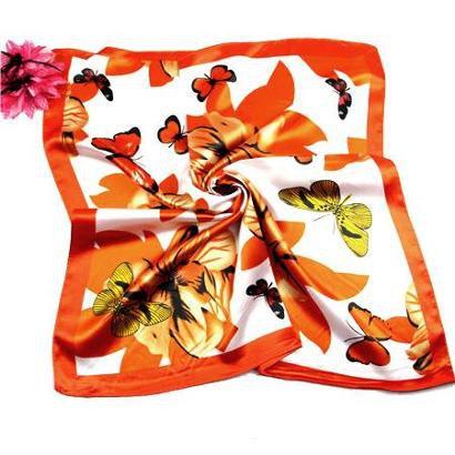 Lenço De Seda Artestore Estampa Floral Core Vibrantes Feminino-Feminino