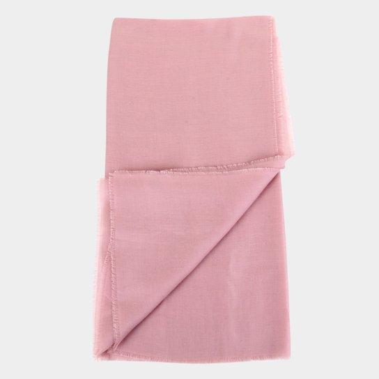 Lenço Hering Básico Liso Feminino - Rosa