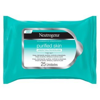Lenço Micelar Neutrogena - Purified Skin 7 em 1 25 Lenços