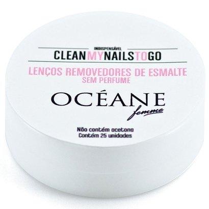 Lenço Removedor de Esmalte Océane Femme LSem Perfume 25 Unidades - Feminino