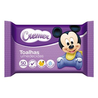 Lenço Umedecido Cremer Disney 50 Unidades