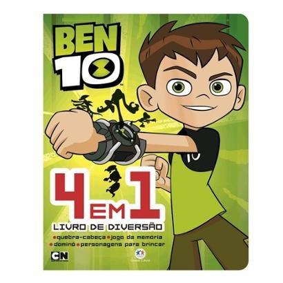 Livro Ben 10 - 4 em 1 - Livro de Diversão