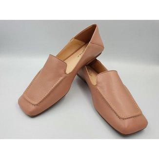 Loafer Versátil em Couro Le scarpe di Bruna - Rosê