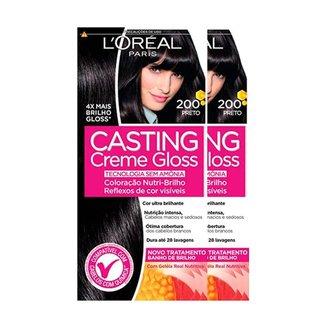 L'Oréal Paris Coloração Casting Creme Gloss Kit - 200 Preto Kit