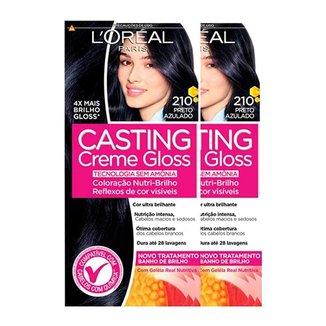 L'Oréal Paris Coloração Casting Creme Gloss Kit - 210 Preto Azulado Kit