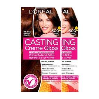 L'Oréal Paris Coloração Casting Creme Gloss Kit - 500 Castanho Claro Kit