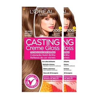 L'Oréal Paris Coloração Casting Creme Gloss Kit - 700 Louro Natural Kit