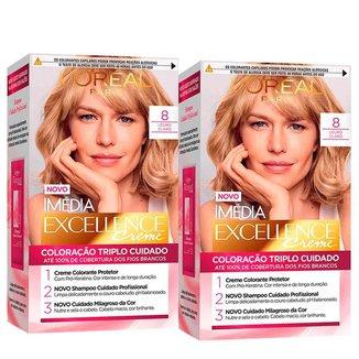 L'Oréal Paris Coloração Imédia Excellence Kit - 8 Louro Claro Kit