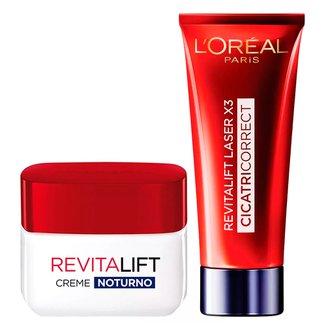 LOréal Paris Revitalift Laser X3 + Revitalift Noite Kit - Creme Antirrugas + Rejuvenescedor Facial