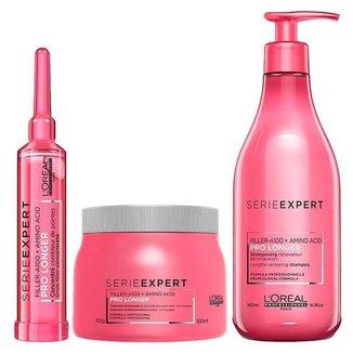 L'Oréal Professionnel Pro Longer Kit - Shampoo + Máscara + Ampola Kit