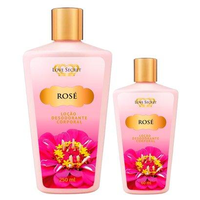 Love Secret Rose Kit - Loção Desodorante + Loção Desodorante Kit