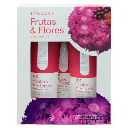 Lowell Frutas & Flores Vermelhas Kit? Shampoo + Condicionador + Leave-In Kit