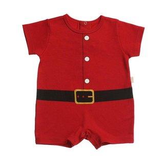 Macacão Bebê Anjos Baby Curto Suedine Coleção Exclusiva de Natal Masculino
