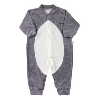 Macacão Bebê Ano Zero Plush Touca Pinguim masculino