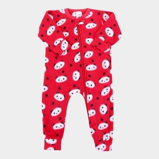 Macacão Bebê Candy Kids Soft Fleece Panda