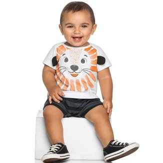 Macacão Bebê Menino Verão, Tigre - Rei Rex