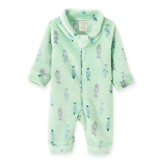 Macacão Bebê Pingo Lelê Pijama e Fleece Peixe Feminino