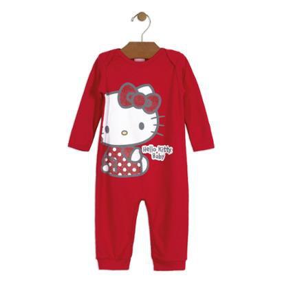 Macacão Bebê Suedine Hello Kitty Feminino-Feminino