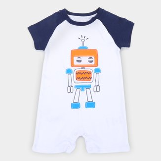 Macacão Bebê Tip Top Suedine Robot Masculino