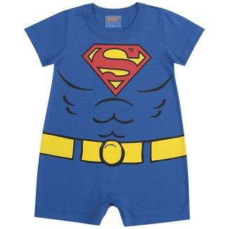 Macacão Bebê Verão Menino Super Homem - Kamylus