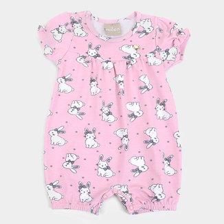 Macacão Curto Bebê Milon Coelhinhos Feminino