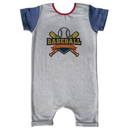 Macacão Infantil Curto Comfy Baseball
