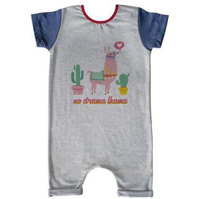 Macacão Infantil Curto Comfy Lhama