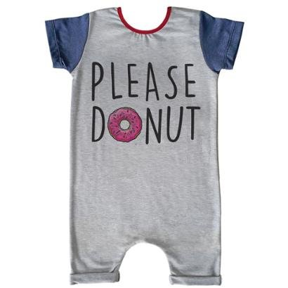 Macacão Infantil Curto Comfy Please Donut