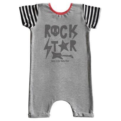 Macacão Infantil Curto Comfy Rock Star