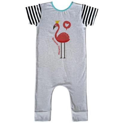 Macacão Infantil Longo Comfy Flamingo