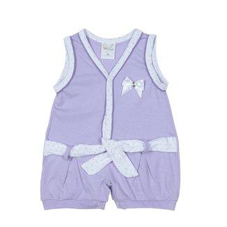 Macacão Infantil Para Bebê Menina - Lilás