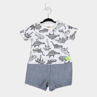 Macacão Infantil Up Baby Dinos Bebê Masculino