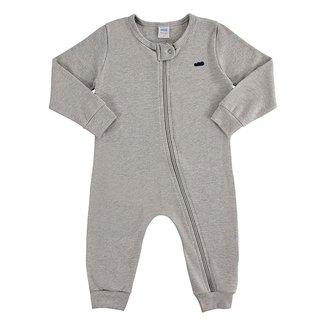 Macacão Longo Bebê Marlan Suedine Básico Masculino