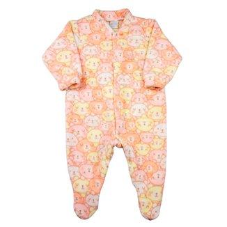 Macacão Pijama Bebê Ano Zero Microsoft Estampado 21 Feminino